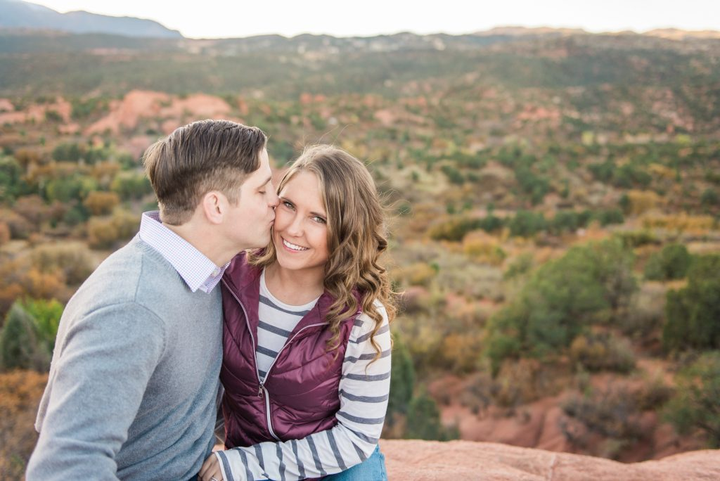 Colorado Springs engagement session, garden of the gods engagement, mountain engagement, red rocks engagement, colorado engagement photos, colorado mountain engagement photos, adventure couple photos, adventure engagement photos, couple photos, colorado springs photos, garden of the gods park, pikes peak engagement