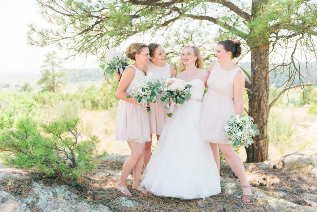blush bridesmaid dresses, champagne bridesmaid dresses, cream wedding flowers, light wedding colors, pink and white wedding inspiration, pinka nd white wedding ideas, colorado wedding photos, steamboat spring wedding, Bella Vista Estate Steamboat springs, colorado wedding inspiration, boho wedding inspiration, boho colorado wedding, boho bride and groom, colorado mountain elopement, colorado wedding inspo, white floral inspiration, modern chic wedding, classic wedding details, modern wedding details, castlewood canyon wedding, castlewood canyon wedding photos, castlewood canyon pictures, castlewood canyon, mountain wedding