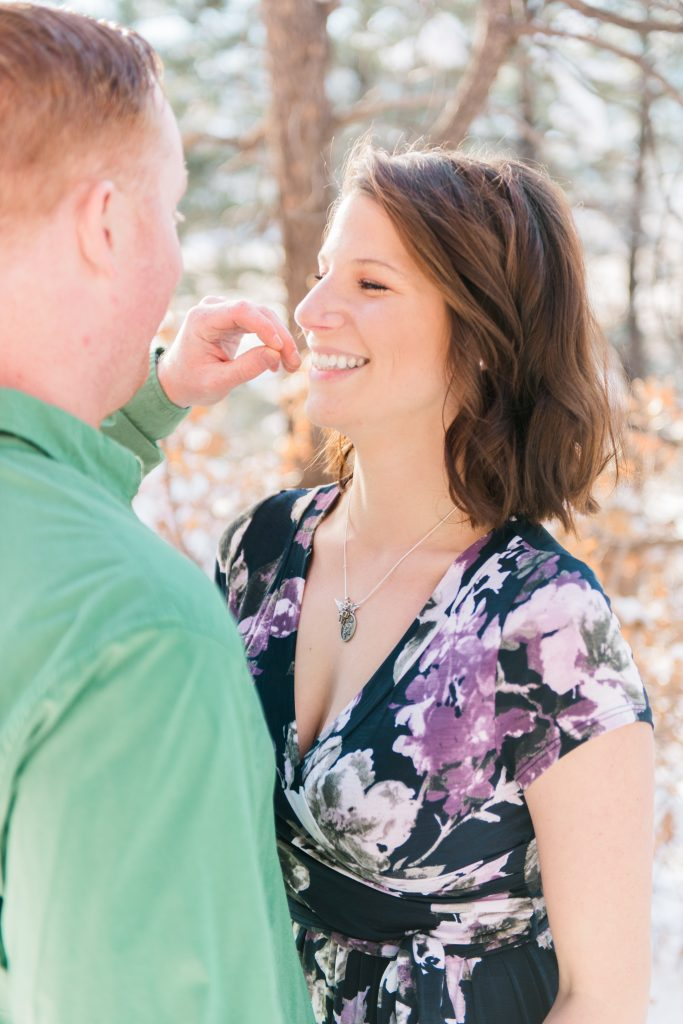 Red Rock Canyon Engagement Session, Colorado Springs Winter Engagement Session, Colorado Mountain Engagement Session
