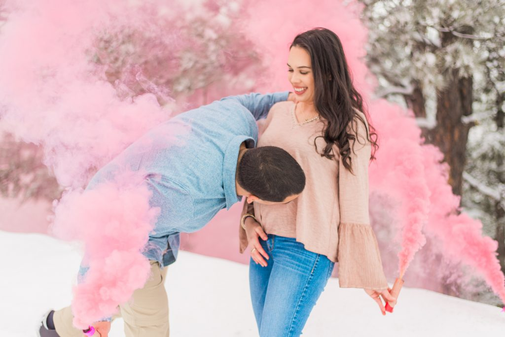 gender reveal inspo, gender reveal inspiration, gender reveal photos, winter gender reveal, gender reveal smoke bomb, girl gender reveal ideas, colorado springs gender reveal photos, colorado springs family photos, colorado springs family portraits, colorado family portraits, colorado family photographer, gender reveal smoke bomb, cute gender reveal ideas