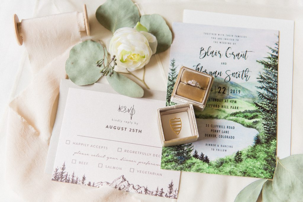 Colorado wedding photographer, colorado mountain wedding photographer, colorado adventure wedding photographer, mountain wedding photographer, wedding details, blush & sage wedding details, mountain wedding details