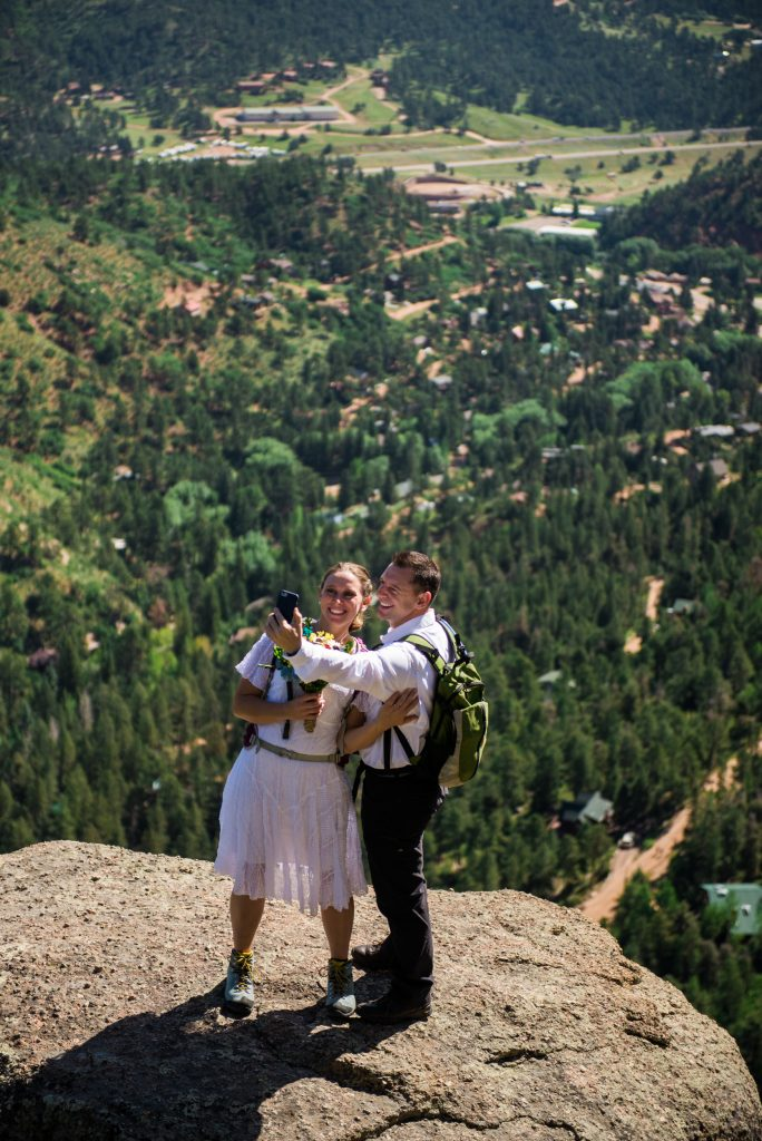 Colorado springs wedding photographer, pikes peak wedding, pikes peak wedding photographer, pikes peak elopement, pikes peak hiking elopement, catamount reservoir, colorado springs hiking photographer, colorado adventure elopement, colorado hiking elopement, colorado wedding photographer, pikes peak summit, pikes peak summit wedding, catamount reservoir wedding, colorado elopement, colorado mountain elopement, hiking elopement, mountain hiking elopement